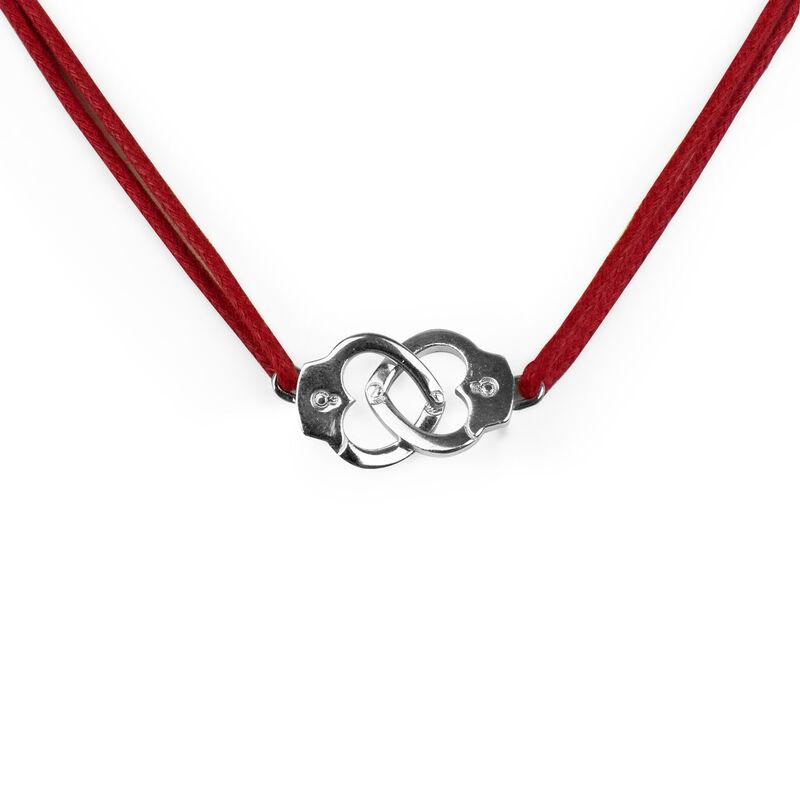 Transgressive Bonds - Silver Pendant - Handcuffs, , zoo
