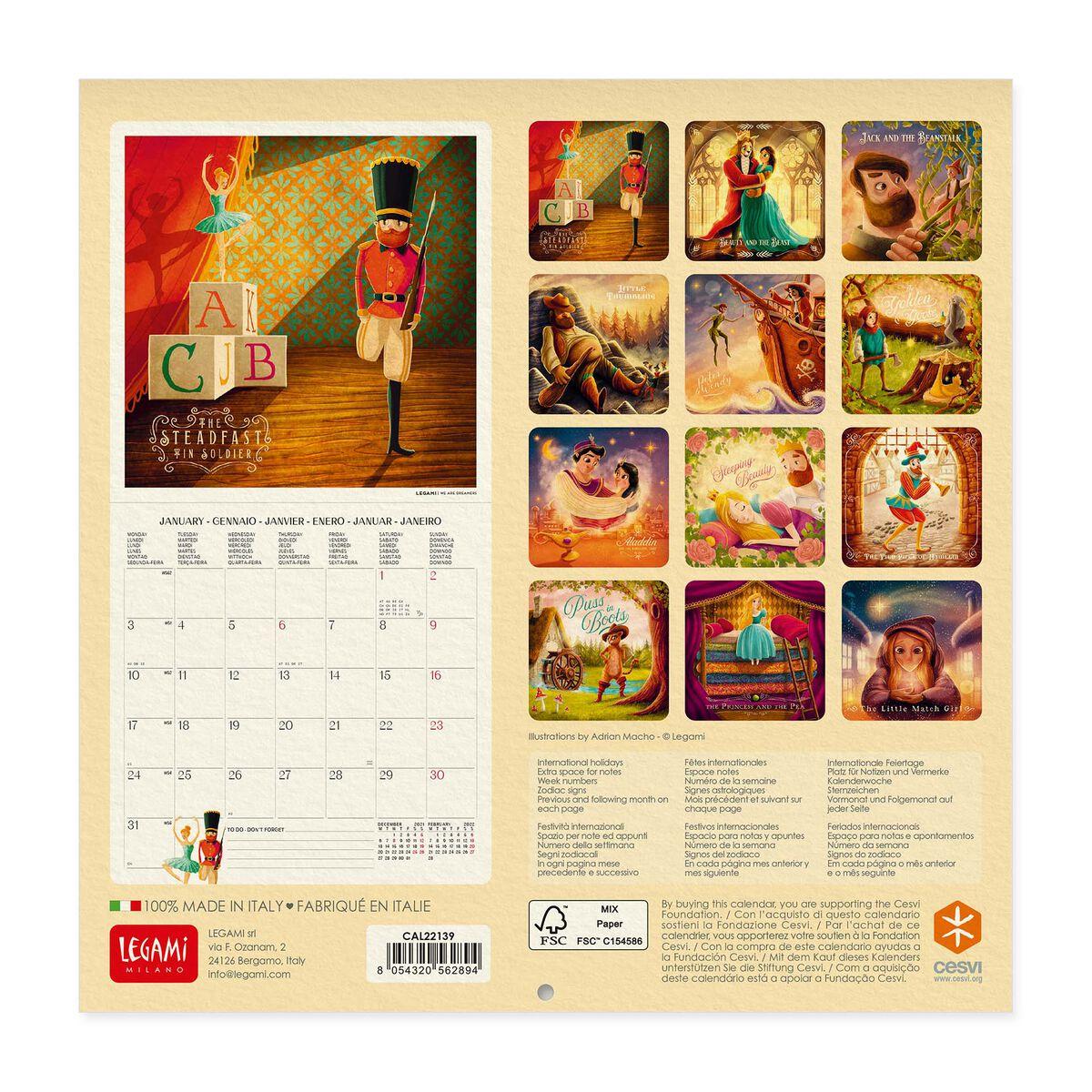 Wall Calendar 2022 - 18 X 18 Cm, , zoo
