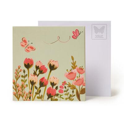 Large Pop Up Greeting Card - Botanical Cat