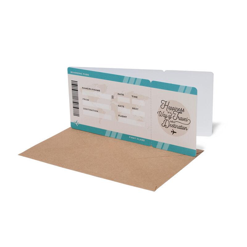 Greeting Card - Happy Birthday - Airplane Ticket, , zoo