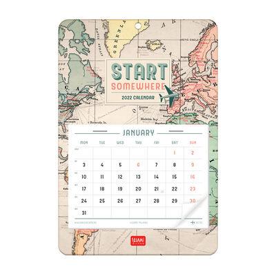 13-Month Wall Calendar 2022 - 15 X 23 Cm