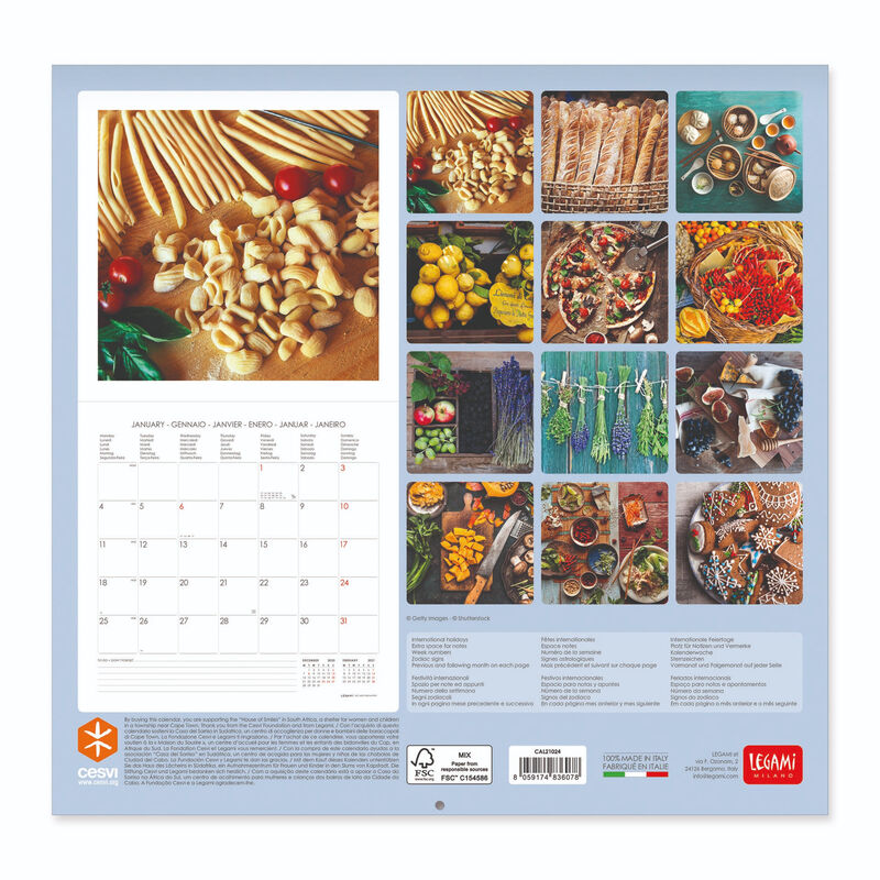 Wall Calendar 2021   30x29 Cm GOOD KITCHEN | Legami.com