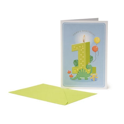 Greeting Card - Happy Birthday - Little Boys - 1 Year