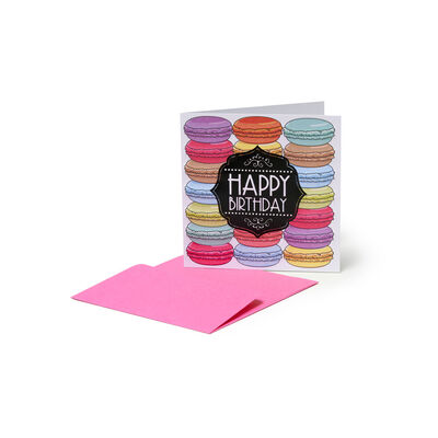 Greeting Cards - Birthday - 7X7 Macarons