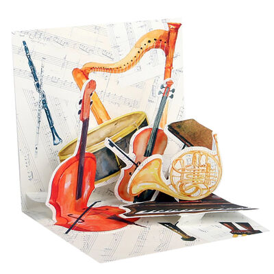 Small Pop Up Greeting Card - Classical Music