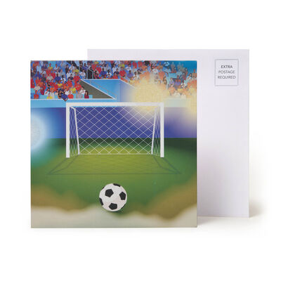 Large Pop Up Greeting Card - Goal!