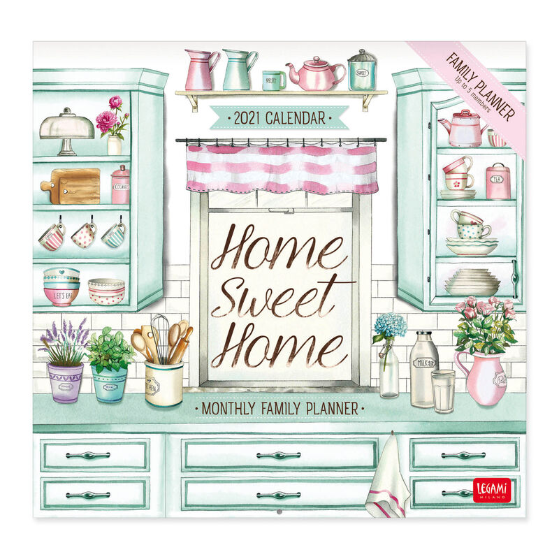 Wall Calendar 2021   30x29 Cm HOME SWEET HOME | Legami.com