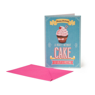 Unusual Greeting Cards - Birthday - 11,5X17 Birthday Cake