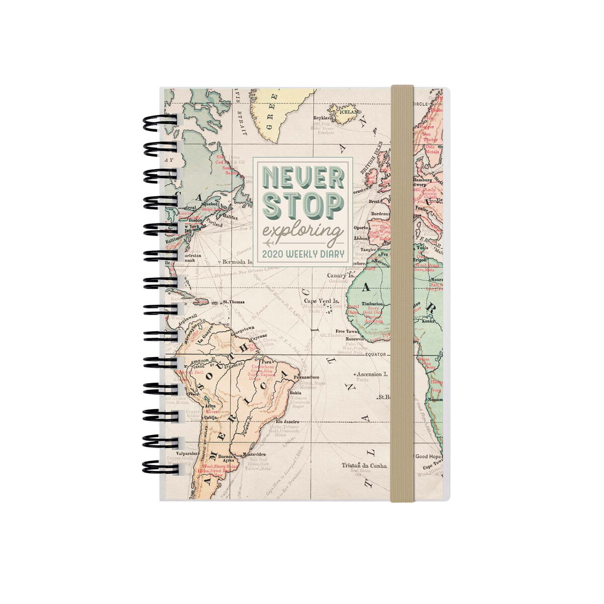 12-Month Weekly Small Photo Diary Spiral Bound - 2020, , zoo