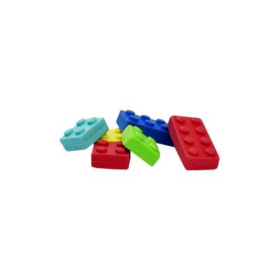 Set Of 6 Brick-Shaped Erasers