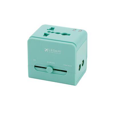 Universal Travel Adapter for Electrical Sockets - Aqua