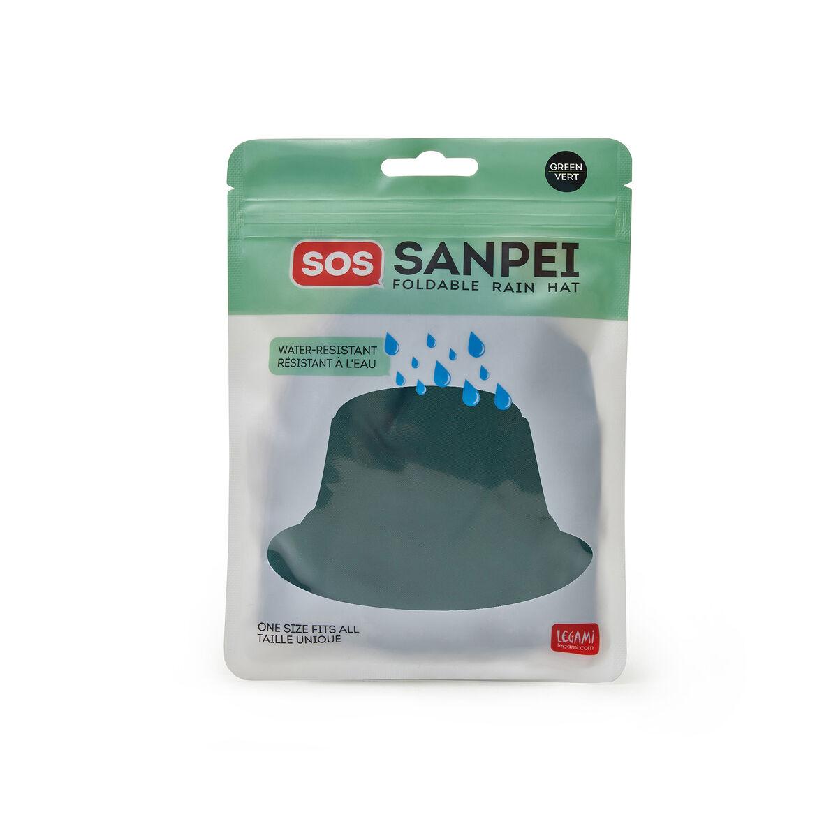 Sos Sanpei - Cappello Antipioggia Pieghevole Green, , zoo
