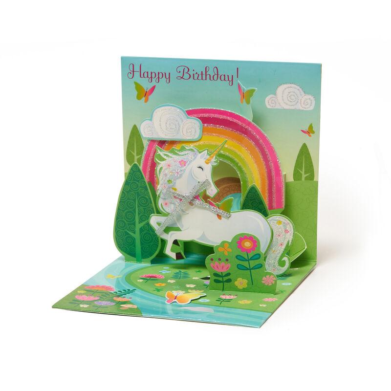 Large Greeting Card Pop Up - Unicorns, , zoom