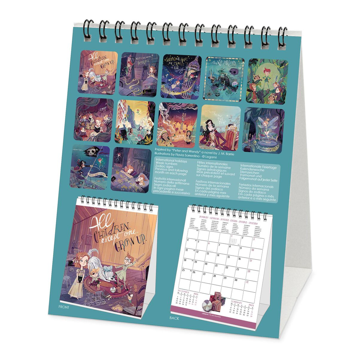 Calendario da Tavolo 2021 - 12x14,5 Cm, , zoo