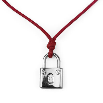 Secret Bonds - Silver Pendant - Padlock