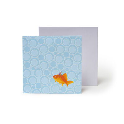 Small Greeting Card Pop Up - Goldfish