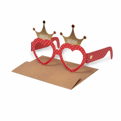 Party Greeting Cards - Birthday - 10X16,5 Eyeglasses Hearts