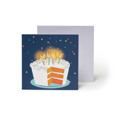 Small Pop Up Greeting Card - Big Slice Of Cake