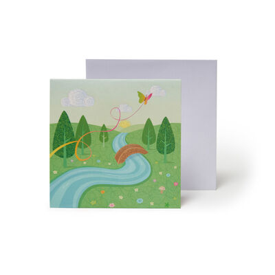 Small Greeting Card Pop Up - Unicorn