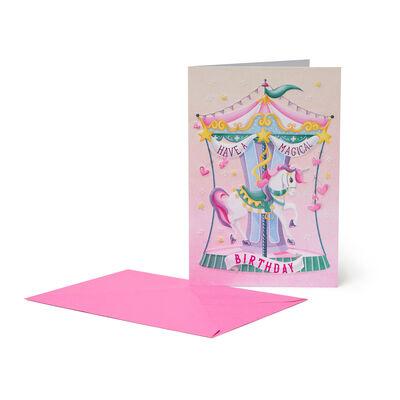 Biglietto d'Auguri - Buon Compleanno - Unicorn