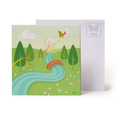 LARGE GREETING CARD POP UP - UNICORNS