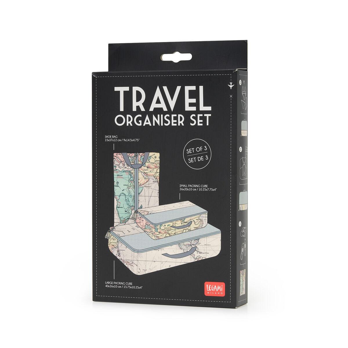Travel Organizer - Set of Three Travel Bags, , zoo