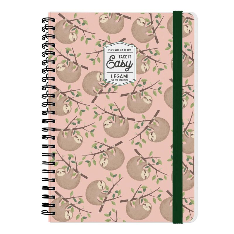 12-Month Weekly Large Spiral Bound Diary - 2020, , zoom