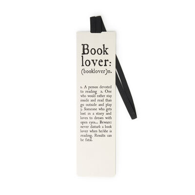 Aphorism Bookmark With Elastic Band
