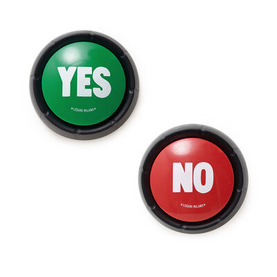 YES & NO - Set  of Two Sound Buttons