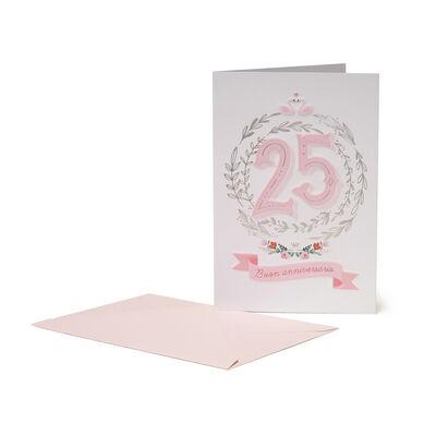 Greeting Card - Anniversary - 25 Anni Insieme