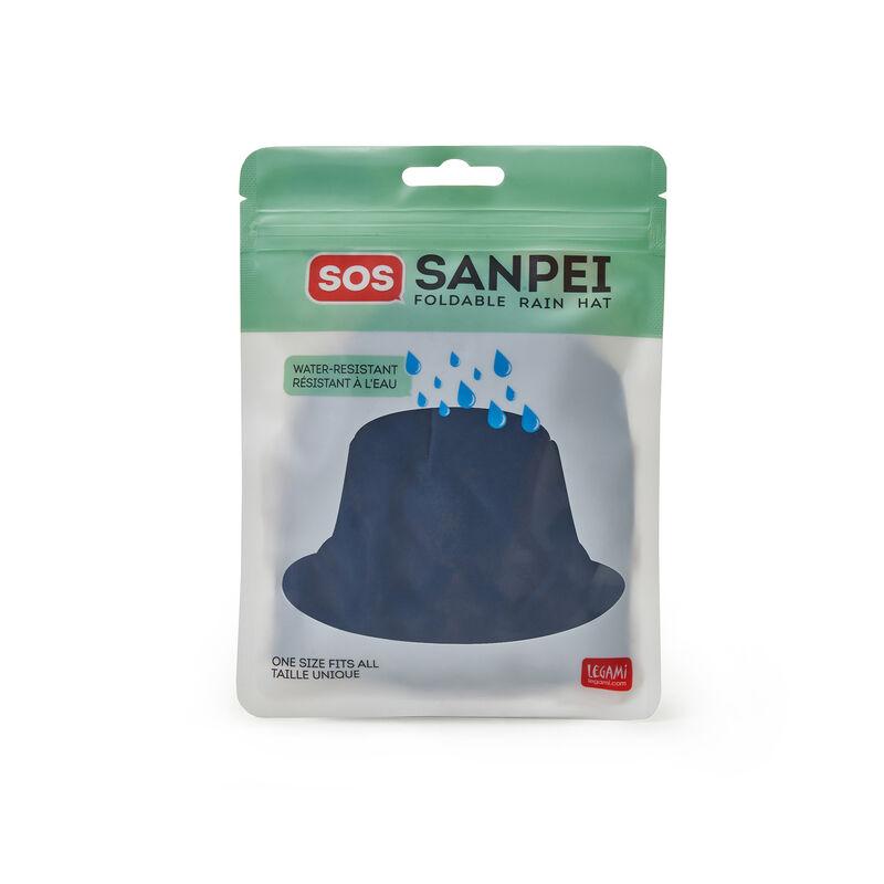 Sos Sanpei - Cappello Antipioggia Pieghevole Blue, , zoom