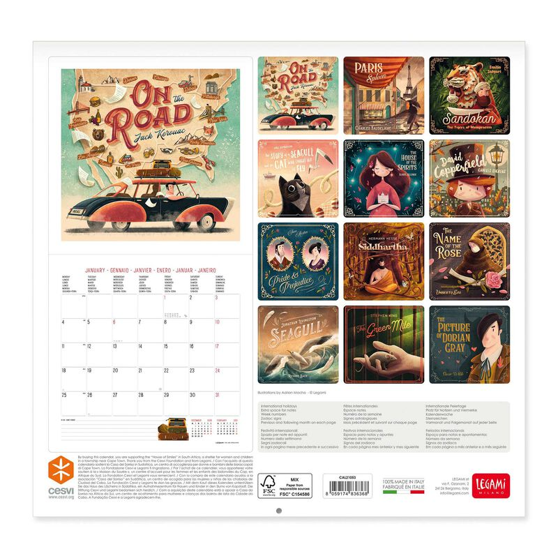 Images of Book Lovers Calendar 2021