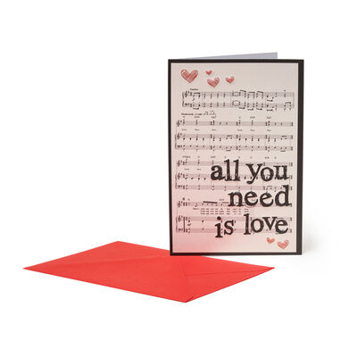 Unusual Greeting Cards- For All Occasions - 11,5X17 All You Need Is Love