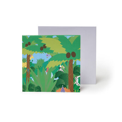 Small Pop Up Greeting Card - Jungle