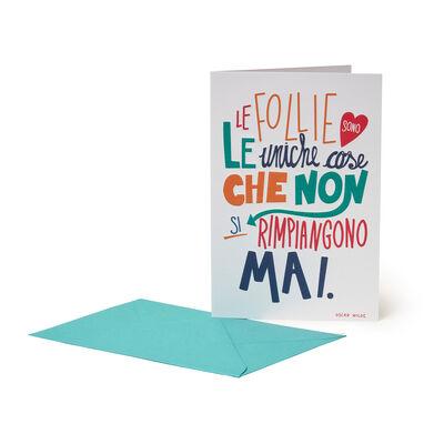 Greeting Card - Aphorism Oscar Wild