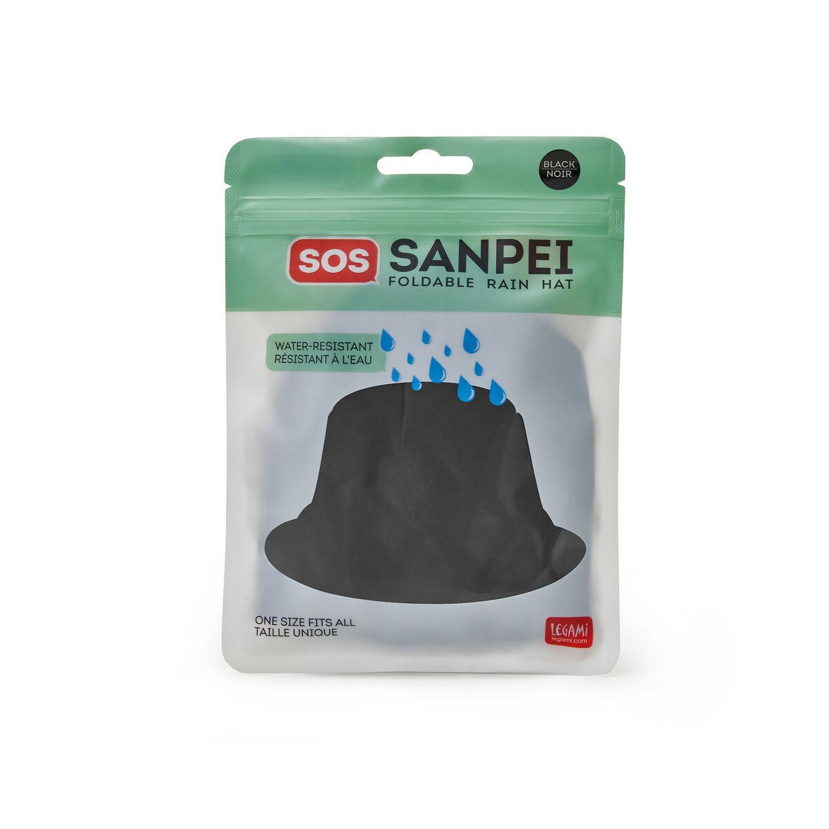 Sos Sanpei - Cappello Antipioggia Pieghevole Black, , zoo