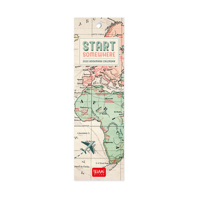 Bookmark Calendar 2022 - 5.5 X 18 Cm