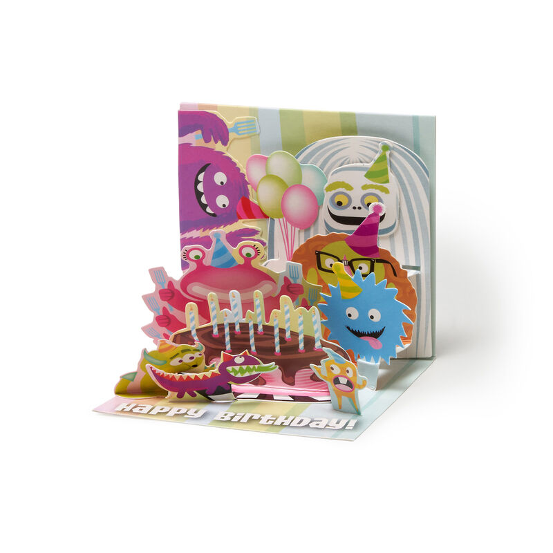 Small Greeting Card Pop Up - Monster Bash, , zoom