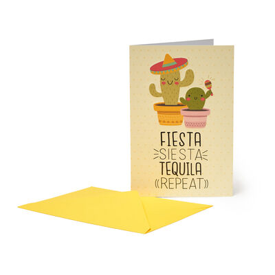 Unusual Greeting Cards - Birthday Wishes - 11.5 X 17 - Fiesta