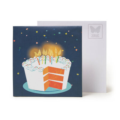 Large Pop Up Greeting Card - Big Slice Of Cake