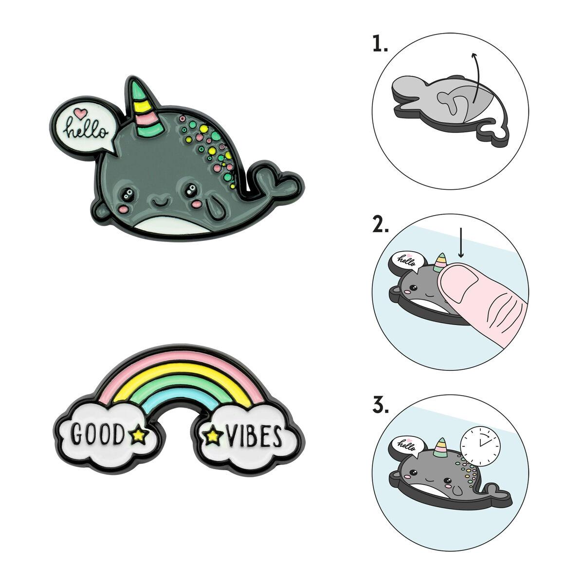 Cutie - Set Of 2 Metal Stickers, , zoom