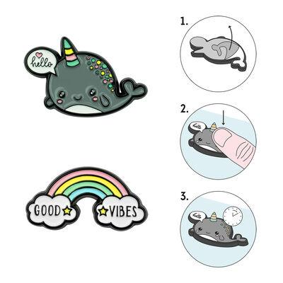 Cutie - Set Of 2 Metal Stickers
