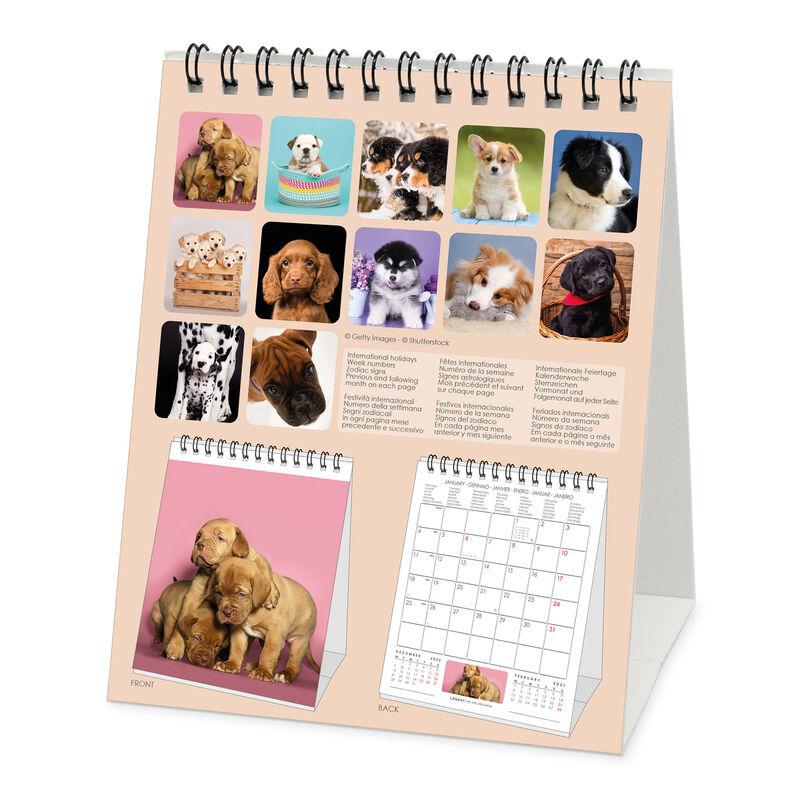 WUHE Calendario da Tavolo Calendario 2021 Calendario da Tavolo cubo di Legno Calendario Bianco Vintage Calendario perpetuo Pratico Set da 4 Pezzi Calendari