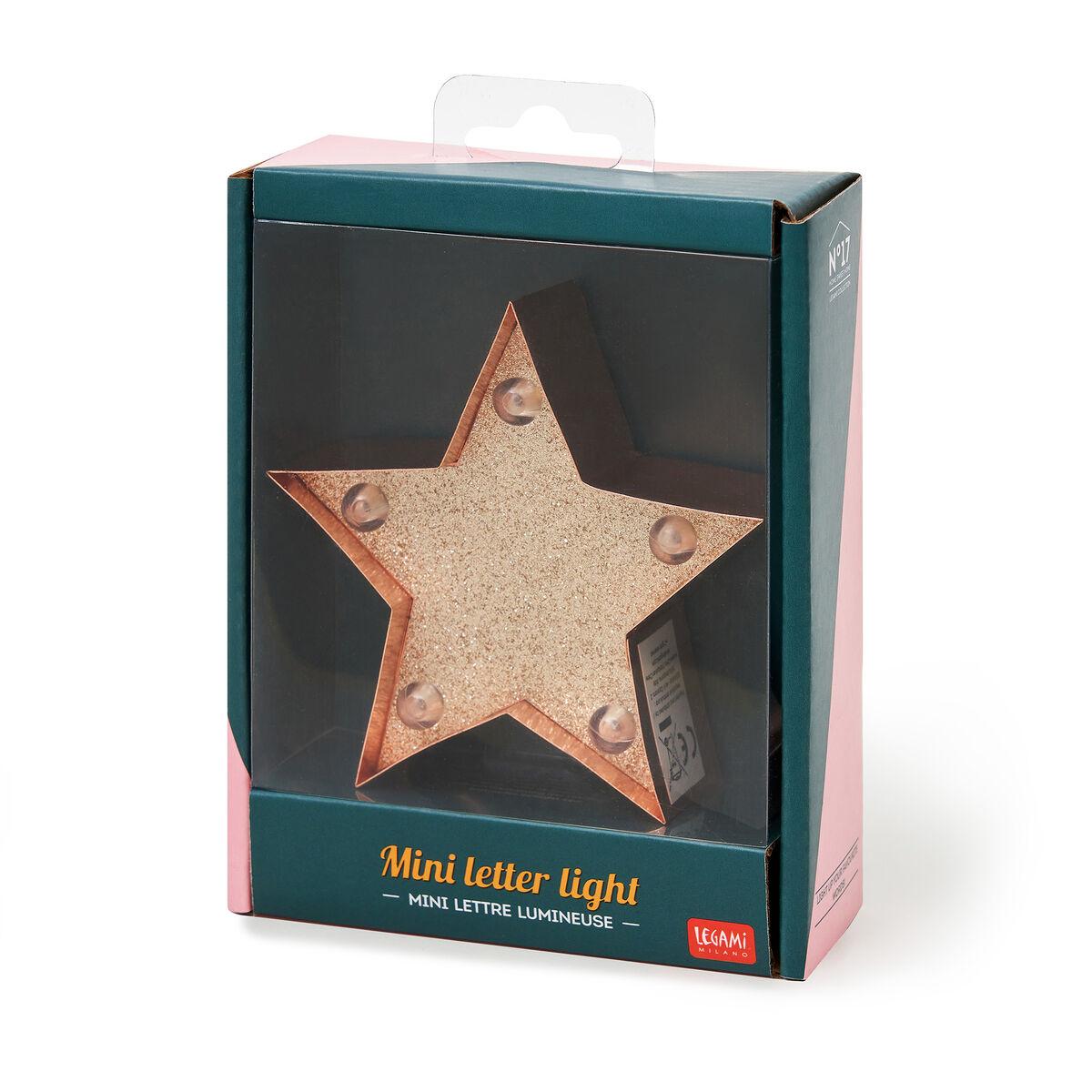 Mini Luce Decorativa - Stella con Glitter, , zoo