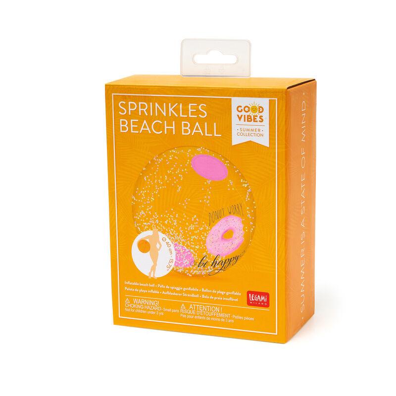 Palla da Spiaggia Gonfiabile con zuccherini, , zoom