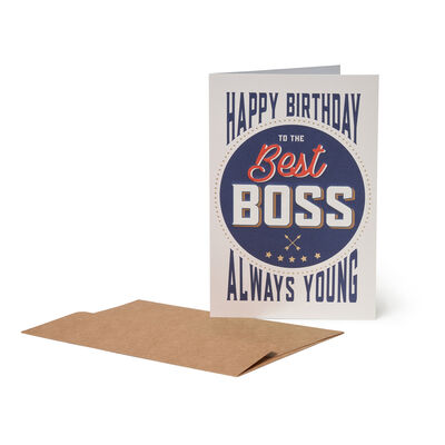 Greeting Card - Happy Birthday - Best Boss