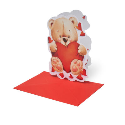 Lovely Greeting Cards - For All Occasions - 11,5X17 Romantic Teddy