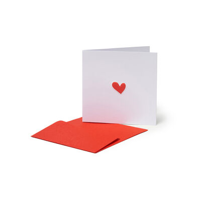 Greeting Cards - Love & Friendship - 7X7 Heart