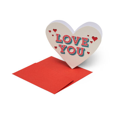 Small Greeting Card - Love You