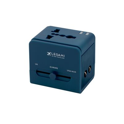 Universal Travel Adapter for Electrical Sockets - Blue